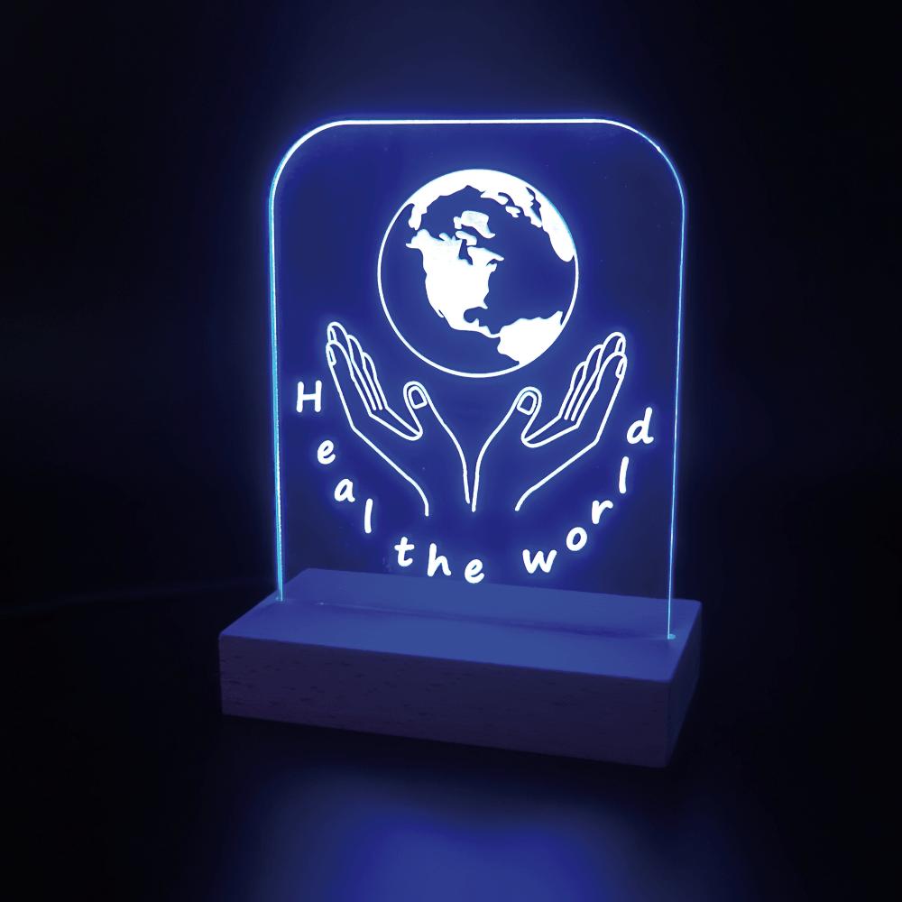 Heal the World Leuchtschild