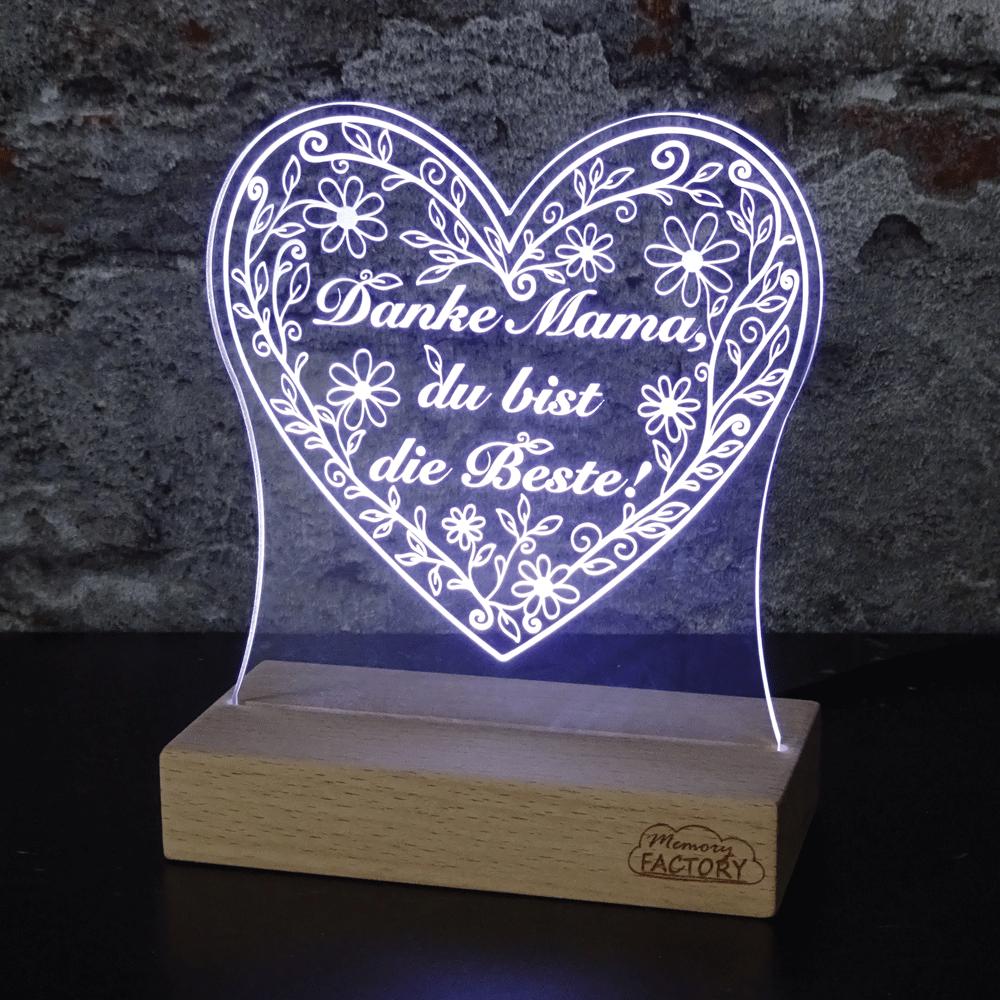 """Leuchtschild Muttertag """"Danke"""""""