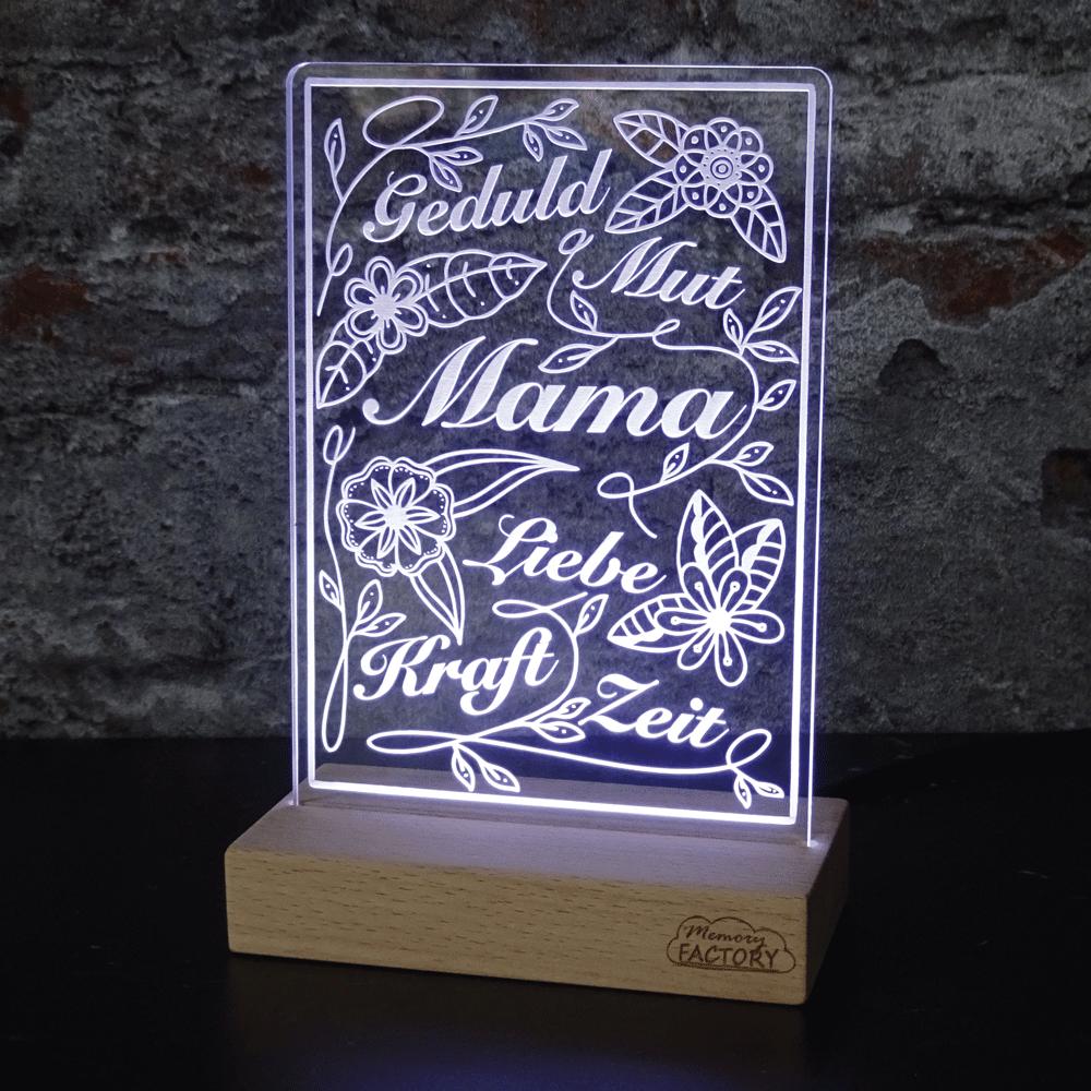 """Leuchtschild Muttertag """"Mama"""" Variante 1"""
